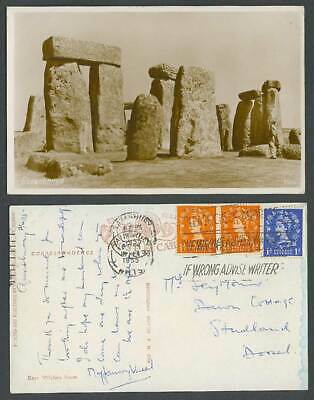 Stonehenge 1955 Old R Photo Postcard Please Check Address If Wrong Advise Writer • 5.99£