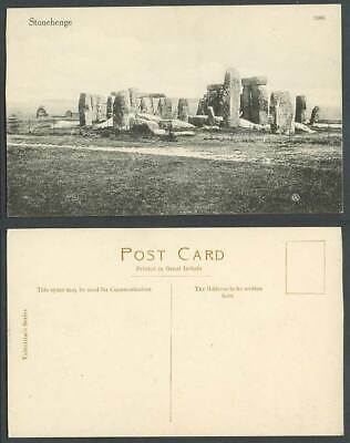 Stonehenge, Panorama General View Wiltshire Old Postcard Valentine's Series 3963 • 5.99£