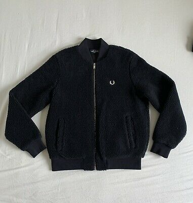 £73 • Buy Fred Perry Navy Harrington Jacket In Size 10 Perfect Condition (RRP £130)