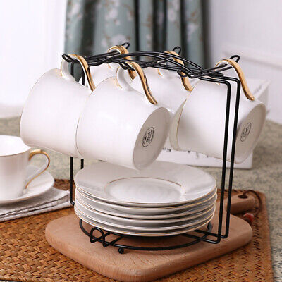 £7.56 • Buy Stainless Steel 6 Cup Mug Tree Stand Holder Table Top Kitchen Tidy Storage Rack