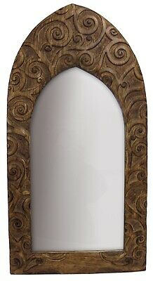 £28.50 • Buy 60.5cm Wall Mirror Gothic Arched Tree Of Life Design Solid Mango Wood Frame