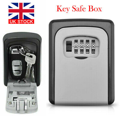 4 Digit Wall Mounted Key Safe Box Outdoor High Security Code Lock-Storage • 9.99£