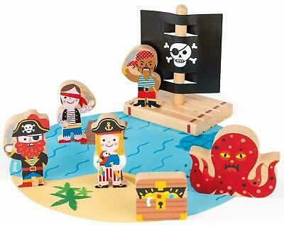 £10.48 • Buy Janod STORY PIRATES SET Pretend Play Activity Toy BN
