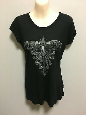 AU15 • Buy Sass & Bide Black Cap Sleeve Tee Top Size Medium EUC
