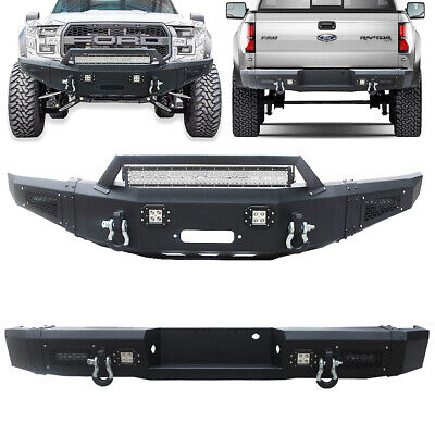 $1299.99 • Buy Vijay Front+Rear Bumper With Winch Plate+D-ring For 2010-14 Ford F150 SVT Raptor