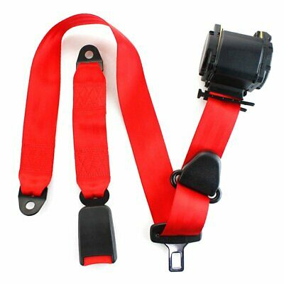 AU36.51 • Buy 1X Fits Citroen 3 Point Harness Safety Seat Belt Retractable Red Car Universal