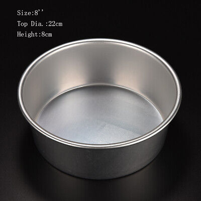 AU10.29 • Buy 4/5/6/8/9/10inch  Cake Mold Round  Cakes Pastry Mould Baking Tin Pan Reusable AU