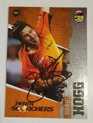 AU8 • Buy BRAD HOGG CRICKET SIGNED IN PERSON Tap N Play BBL CARD GENUINE