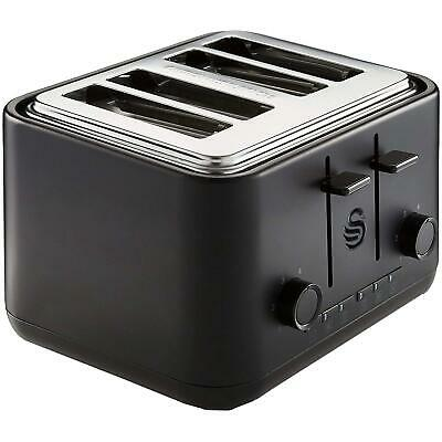 £55.94 • Buy Swan Stealth 4 Slice Toaster - Matt Black - Independant Controls & Cord Storage