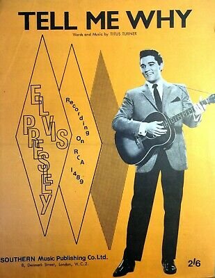 £19.99 • Buy Tell Me Why By Elvis Presley Original Rare Out Of Print Sheet Music 1957