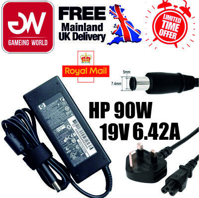 £9.99 • Buy Genuine Hp 90w 19.5v-4.74a Big Tip Laptop Power Adapter Charger Clearance Sale!
