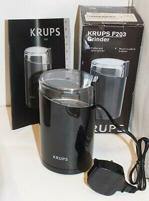 £17.99 • Buy New Box Krups F203 Electric Coffee & Spice Grinder Mill- Stainless Steel Blades