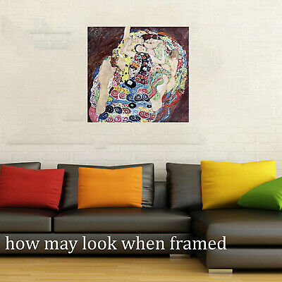 $ CDN97.17 • Buy Klimt Framed Canvas Vintage Art Print Painting 600mm Gustav Ladies 24  Woman