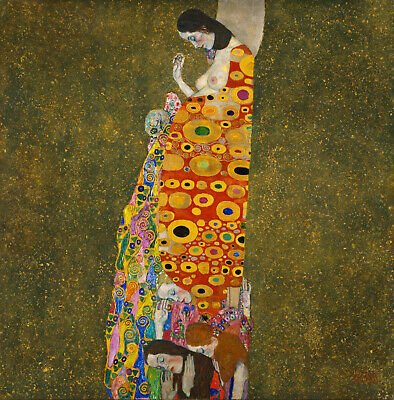 $ CDN48.58 • Buy Klimt Framed Canvas Vintage Art Print Painting 16  X 16  Gustav Hope Lady