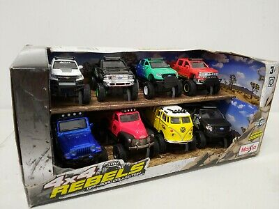 $ CDN34.70 • Buy Maisto 4x4 Rebels Off-road Collection Pull Back, 8 Pack Die Cast Cars 1:43 Open