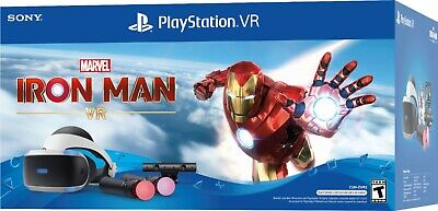AU650.32 • Buy NEW Sony Playstation VR PSVR Iron Man Bundle VR Headset + Camera Controllers PS4
