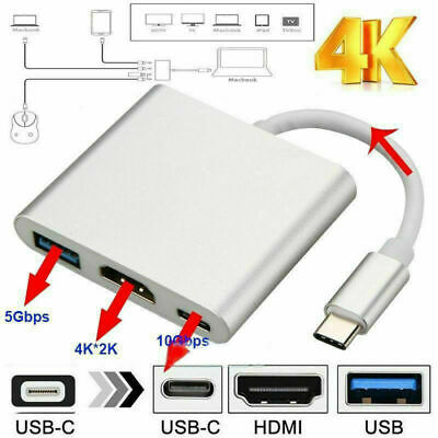 $ CDN12.62 • Buy USB Type C To HDMI HDTV TV Cable Adapter Converter For Macbook Android Phone
