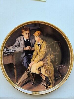 $ CDN21.87 • Buy Edwin M. Knowles Plate  Confiding In The Den  By Norman Rockwell