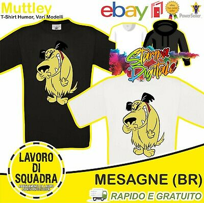 £12.73 • Buy T-Shirt Muttley Dastardly Cartoons Wacky Races Ages 80 Cartoons Funny