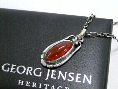 Georg Jensen Necklace 2009 Heritage Collection Carnelian Silver 925 25170336600 • 108.75£