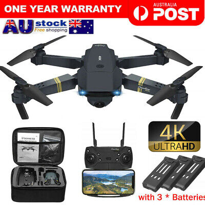 AU51.66 • Buy Drone WIFI FPV HD 4K Wide Angle Camera Foldable Selfie RC Quadcopter Remote Toy