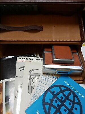 AU206.32 • Buy Polaroid Sx-70 Land Camera Vintage With Case Flash And Guides