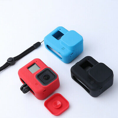$ CDN4.99 • Buy Soft Silicone Case Housing Cover Lens Cap For GoPro Hero 8 Camera Accessories