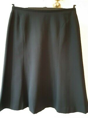 Cotswold Collection Wool/Polyester Black Skirt - Size 16 • 4.40£