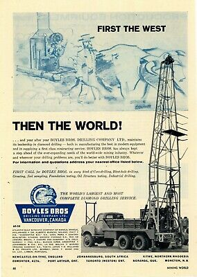 £10.58 • Buy 1962 Boyles Brothers Drilling Co. Ad: Diamond Drilling Rigs - Vancouver, Canada