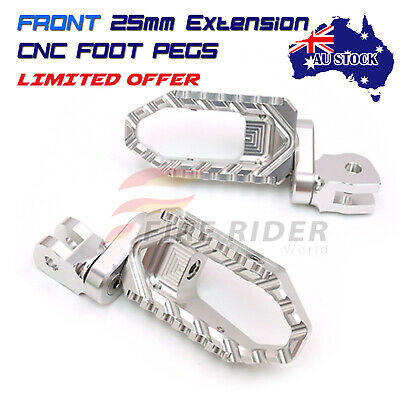 AU84.25 • Buy For Yamaha XJR 1300 SP 2004-2012 Silver 25mm Extend Front Wide Foot Pegs