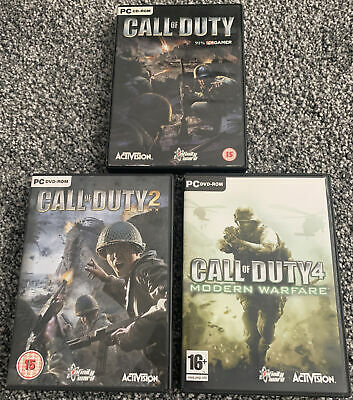 £19.99 • Buy Call Of Duty PC CD ROM Game Bundle, Call Of Duty 2 & 4  - VGC - Free UK PP