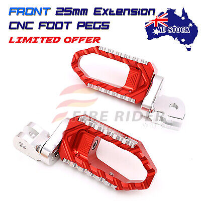 AU84.25 • Buy For Yamaha XJR 1300 SP 2004-2012 RED 25mm Extend Front Wide Foot Pegs
