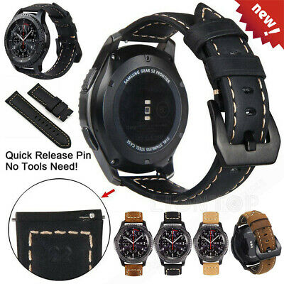 AU18.55 • Buy Leather Watch Band Strap For Samsung Galaxy Watch 3 45mm 46mm Gear S3 Frontier
