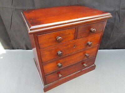 £345 • Buy Antique Wooden Apprentice Miniature Chest Of Drawers Collectors Jewellery Box