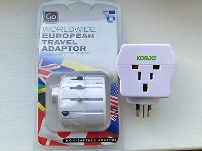 AU7.83 • Buy Go Travel Worldwide Adaptor For European Plugs AND Korjo Adapter For Australia