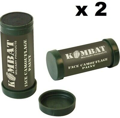 KombatUK Army Military 2 Colour Camo Camouflage Make-Up Face Paint Cream -2 Pack • 5.75£