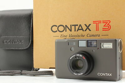 $ CDN3258.31 • Buy [Top MINT] Contax T3 Titan Black Double Teeth Point & Shoot Film Camera JAPAN