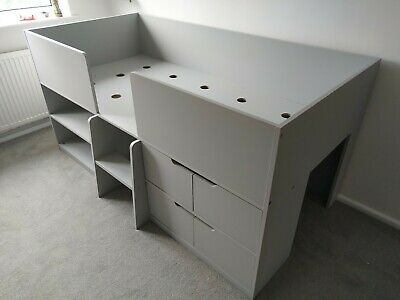 £225 • Buy Children's Cabin Bed & Chest Of Drawers - Next Compton Grey Fantastic Condition