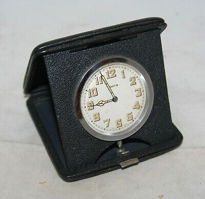 AU1.76 • Buy Vintage Leather Cased Swiss 8 Day Folding Travel Watch