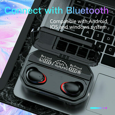 $ CDN15.03 • Buy 2000mAh Wireless Headphones TWS 5.1 Bluetooth Earphones Waterproof Earbuds Music