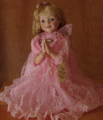 $ CDN21.29 • Buy Praying Girl Porcelain Doll 14  Kneeling, Cross, Vintage Russ New In Box