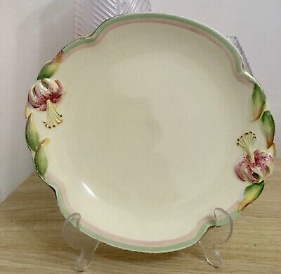 $ CDN51.84 • Buy Royal Winton Grimwades Ivory Tiger Lily China Handled Serving Plate, 10  🌸
