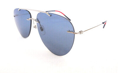AU328.42 • Buy GUCCI Mens' Sunglasses GG0397S 006 Silver/Blue Aviator Metal 150 ITALY - New