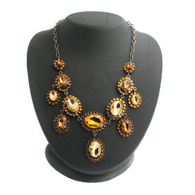 $ CDN9.40 • Buy QVC SOLD OUT Holiday Glamour Statement Necklace 18 L