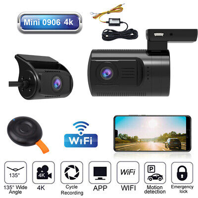 AU187.08 • Buy MINI 0906 4K W/GPS WIFI Dash Camera 135°Front Angle Parking Monitor W/Hardwire!