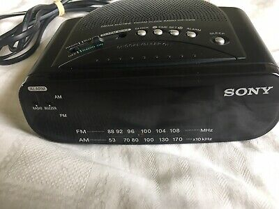 AU15 • Buy Sony Dream Machine FM/AM Alarm Clock Radio ICF-C212 Black Clock Radio