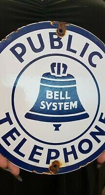 $ CDN14.37 • Buy PUBLIC TELEPHONE Porcelain Metal Sign 5 Cent Public Phone Booth Bell System