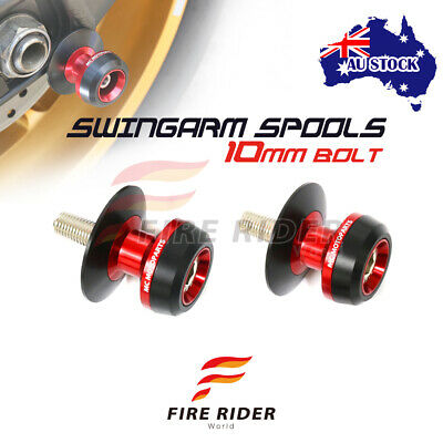 AU26.25 • Buy For Kawasaki Z1000 03-13 06 07 08 09 10 11 12 10MM CNC Red Swingarm Spools Kit