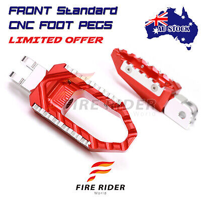 AU75.25 • Buy For Kawasaki Z125 /Pro 2016-2018 RED Wide Touring Front Rider Foot Pegs