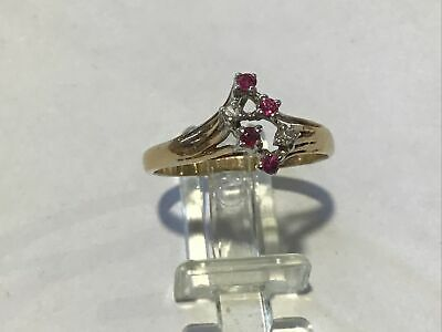 AU160 • Buy 9ct Gold Ruby Diamond Cluster Ring
